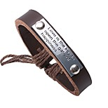cheap -Leather Bracelet - Ethnic, Fashion Bracelet Black / Coffee For Daily / Street