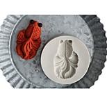 Недорогие -Инструменты для выпечки Силикон Праздник / 3D в мультяшном стиле / Креатив Торты / Шоколад / Для приготовления пищи Посуда Круглый Формы для пирожных 1шт