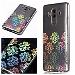 Недорогие -Кейс для Назначение Huawei P20 / P20 lite С узором Кейс на заднюю панель Цветы Мягкий ТПУ для Huawei P20 / Huawei P20 lite