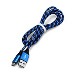 cheap -Micro USB USB Cable Adapter High Speed / Braided Cable For Samsung / Huawei / LG 100cm Nylon