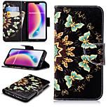 Недорогие -Кейс для Назначение Huawei P20 Pro / P20 lite Кошелек / Бумажник для карт / со стендом Чехол Бабочка Твердый Кожа PU для Huawei P20 /