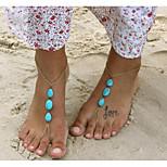 Недорогие -Бирюза Украшения на ноги - Свисающие Винтаж, Богемные, Бикини Золотой Назначение Праздники / Бикини / Жен.