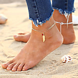 cheap -Layered Anklet - Wings Vintage, Bohemian, Fashion Gold / Silver For Gift / Going out