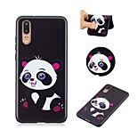 cheap -Case For Huawei P20 P8 Lite (2017) Pattern Back Cover Panda Soft TPU for Huawei P20 lite Huawei P20 Pro Huawei P20 P10 Lite P10 P9 lite