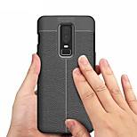 cheap -Case For OnePlus OnePlus 6 / OnePlus 5T Embossed Back Cover Solid Colored Soft TPU for OnePlus 6 / One Plus 5 / OnePlus 5T