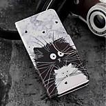 Недорогие -Кейс для Назначение Xiaomi Mi 6X / Mi 5X Бумажник для карт / Кошелек / со стендом Чехол Кот Твердый Кожа PU для Xiaomi Mi 6X(Mi A2) /