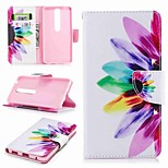 cheap -Case For Nokia Nokia 6 2018 Nokia 5 Card Holder Wallet with Stand Flip Pattern Full Body Cases Flower Hard PU Leather for Nokia 8 Nokia 6