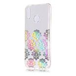 Недорогие -Кейс для Назначение Huawei P20 lite / P20 Покрытие / Прозрачный / С узором Кейс на заднюю панель Кружева Печать Мягкий ТПУ для Huawei P20