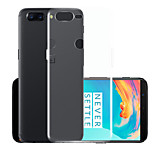 cheap -Case For OnePlus 5 Transparent Back Cover Solid Colored Soft TPU for One Plus 5