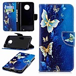 cheap -Case For Motorola Moto G6 Plus / MOTO G5 Wallet / Card Holder / with Stand Full Body Cases Butterfly Hard PU Leather for MOTO G6 / Moto