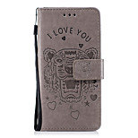 cheap -Case For Wiko Universal Card Holder / Wallet / with Stand Full Body Cases Animal Hard PU Leather for Wiko Lenny 4 / Wiko Lenny 3