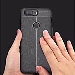 cheap -Case For OnePlus OnePlus 5T Embossed Back Cover Solid Colored Soft TPU for OnePlus 5T