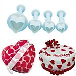 Недорогие -Инструменты для выпечки пластик Творчество / Своими руками Печенье / Шоколад / Для торта торт Cutter / Инструменты для выпечки 4шт