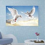 Недорогие -Декоративные наклейки на стены / Напольные наклейки - 3D наклейки Животные / 3D Кабинет / Офис / Офис