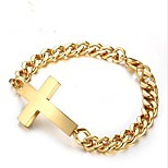 cheap -Men's Cross 1 Chain Bracelet - Fashion Geometric Gold Silver Bracelet For Gift Daily