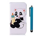 Недорогие -Кейс для Назначение Huawei P20 / P20 lite Кошелек / Бумажник для карт / со стендом Чехол Панда Твердый Кожа PU для Huawei P20 / Huawei