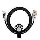 baratos -Tipo-C Adaptador de cabo USB Carga rápida / Alta Velocidade Cabo Para Samsung / Huawei / LG 100cm PVC