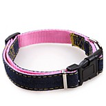 cheap -Dogs / Cats Collar Walking / Adjustable / Retractable / Training Solid Colored Fabric Red / Blue / Pink