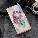 Недорогие -Кейс для Назначение Huawei P20 / P20 lite Кошелек / Бумажник для карт / со стендом Чехол Ловец снов Твердый Кожа PU для Huawei P20 /
