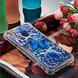 Недорогие -Кейс для Назначение Huawei P10 Lite / P smart Защита от удара / Движущаяся жидкость / С узором Кейс на заднюю панель Бабочка Мягкий ТПУ