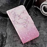 Недорогие -Кейс для Назначение Motorola Moto G6 Plus / MOTO G6 Бумажник для карт / Кошелек / со стендом Чехол Мрамор Твердый Кожа PU для Moto G6