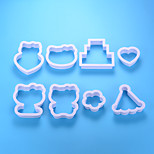 Недорогие -Инструменты для выпечки Алюминий Новое поступление / 3D / Своими руками Для торта / Вечеринка / День рождения Формы для пирожных 8шт