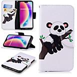 Недорогие -Кейс для Назначение Huawei P20 Pro / P20 lite Кошелек / Бумажник для карт / со стендом Чехол Панда Твердый Кожа PU для Huawei P20 /
