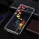 Недорогие -Кейс для Назначение Nokia Nokia 7 Plus / Nokia 6 2018 Покрытие / С узором Кейс на заднюю панель Бабочка / одуванчик Мягкий ТПУ для Nokia