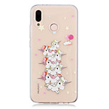 cheap -Case For Huawei P20 lite / P20 Transparent / Pattern Back Cover Unicorn Soft TPU for Huawei P20 lite / Huawei P20 Pro / Huawei P20