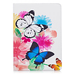 cheap -Case For Apple iPad (2017) iPad Pro 9.7 Card Holder Wallet with Stand Pattern Auto Sleep / Wake Up Full Body Cases Butterfly Hard PU