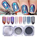 economico -3 pcs Polvere di glitter Effetto dello specchio / Glitter per unghie Nail Art Design Patinata Matrimonio / Serata / evento