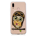 cheap -Case For Huawei P20 Pro / P10 Plus Transparent / Pattern Back Cover Owl Soft TPU for Huawei P20 lite / Huawei P20 Pro / Huawei P20