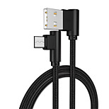 Недорогие -Micro USB Адаптер USB-кабеля Быстрая зарядка / Высокая скорость Кабель Назначение Samsung / Huawei / LG 100cm Алюминий / TPE