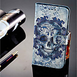 cheap -Case For Huawei P20 lite P20 Pro Card Holder Wallet with Stand Flip Magnetic Full Body Cases Skull Hard PU Leather for Huawei P20 lite