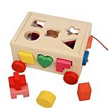 Недорогие -Деревянные пазлы / Пазлы и логические игры Очаровательный деревянный 16pcs дошкольный Подарок