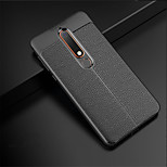 cheap -Case For Nokia Nokia 8 Sirocco / Nokia 6 2018 Embossed Back Cover Solid Colored Soft TPU for Nokia 8 Sirocco / Nokia 6 2018