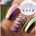 cheap -4pcs Glitter Powder Mirror Effect Nail Glitter Glossy Wedding Event / Party Nail Art Design