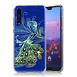 Недорогие -Кейс для Назначение Huawei P20 / P20 Pro Покрытие / Сияние и блеск Кейс на заднюю панель Фламинго Твердый ПК для Huawei P20 / Huawei P20