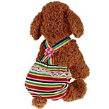 cheap -Dogs / Cats / Pets Jumpsuit Dog Clothes Stripe / Princess Red Padded Fabric Costume For Pets Male Sports & Outdoors / Dresses&Skirts