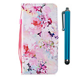 cheap -Case For Sony Sony Xperia XA2 Xperia L2 Card Holder Wallet with Stand Flip Magnetic Full Body Cases Flower Hard PU Leather for Xperia XA2