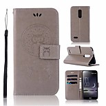 Недорогие -Кейс для Назначение LG K10 2018 Кошелек / Бумажник для карт / со стендом Чехол Сова Твердый Кожа PU для LG K10 2018