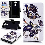 cheap -Case For Sony Sony Xperia XA2 / Xperia L2 Wallet / Card Holder / with Stand Full Body Cases Butterfly Hard PU Leather for Sony Xperia XA2