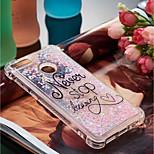 preiswerte -Hülle Für Huawei P10 Lite / P smart Stoßresistent / Mit Flüssigkeit befüllt / Muster Rückseite Wort / Satz Weich TPU für P10 Lite / P8