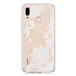 cheap -Case For Huawei P20 lite / P20 Transparent / Pattern Back Cover Lace Printing Soft TPU for Huawei P20 lite / Huawei P20 Pro / Huawei P20