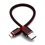 cheap -Micro USB USB Cable Adapter Quick Charge Cable For Samsung Huawei Nokia Xiaomi HTC 26cm leatherette