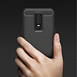 cheap -Case For OnePlus OnePlus 6 / OnePlus 5T Shockproof / Ultra-thin Back Cover Solid Colored Soft TPU for OnePlus 6 / One Plus 5 / OnePlus 5T