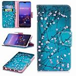 Недорогие -Кейс для Назначение Huawei P20 lite P20 Pro Бумажник для карт Кошелек со стендом Флип С узором Чехол Цветы Твердый Кожа PU для Huawei P20