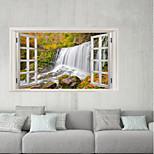 Недорогие -Декоративные наклейки на стены / Наклейки на холодильник - 3D наклейки Пейзаж / Цветочные мотивы / ботанический Гостиная / Ванная комната