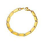 cheap -Men's 1 Chain Bracelet - Fashion Geometric Gold Silver Bracelet For Daily