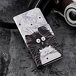 Недорогие -Кейс для Назначение Huawei P20 / P20 lite Кошелек / Бумажник для карт / со стендом Чехол Мультипликация Твердый Кожа PU для Huawei P20 /